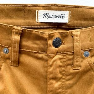 "Madewell 9"" high-rise sateen skinny jeans"